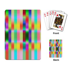 Multicolored Irritation Stripes Playing Card