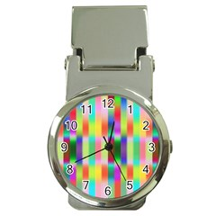 Multicolored Irritation Stripes Money Clip Watches