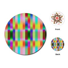 Multicolored Irritation Stripes Playing Cards (round)