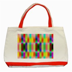 Multicolored Irritation Stripes Classic Tote Bag (red)