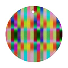 Multicolored Irritation Stripes Round Ornament (two Sides)