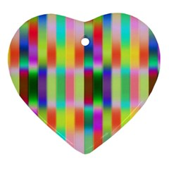 Multicolored Irritation Stripes Heart Ornament (two Sides)