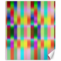 Multicolored Irritation Stripes Canvas 8  X 10