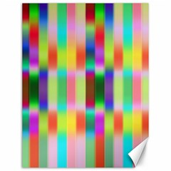 Multicolored Irritation Stripes Canvas 12  X 16