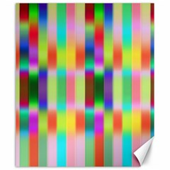 Multicolored Irritation Stripes Canvas 20  X 24