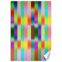 Multicolored Irritation Stripes Canvas 20  X 30   by designworld65