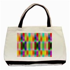 Multicolored Irritation Stripes Basic Tote Bag (two Sides) by designworld65