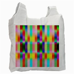 Multicolored Irritation Stripes Recycle Bag (two Side)  by designworld65