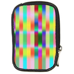 Multicolored Irritation Stripes Compact Camera Cases
