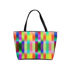 Multicolored Irritation Stripes Shoulder Handbags