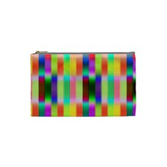 Multicolored Irritation Stripes Cosmetic Bag (small)  by designworld65