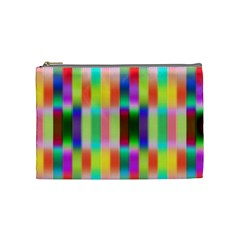 Multicolored Irritation Stripes Cosmetic Bag (medium)
