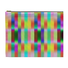 Multicolored Irritation Stripes Cosmetic Bag (xl)