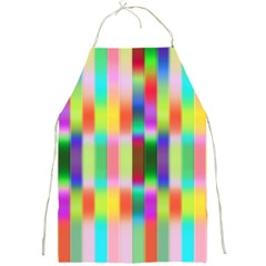Multicolored Irritation Stripes Full Print Aprons by designworld65