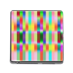 Multicolored Irritation Stripes Memory Card Reader (square)