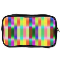 Multicolored Irritation Stripes Toiletries Bags