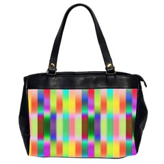 Multicolored Irritation Stripes Office Handbags (2 Sides)