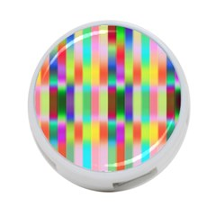 Multicolored Irritation Stripes 4 Port Usb Hub (one Side) by designworld65