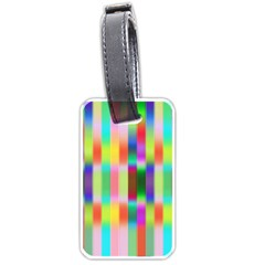 Multicolored Irritation Stripes Luggage Tags (one Side)