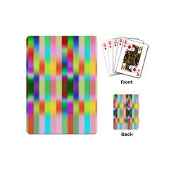 Multicolored Irritation Stripes Playing Cards (mini)
