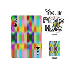 Multicolored Irritation Stripes Playing Cards 54 (mini)