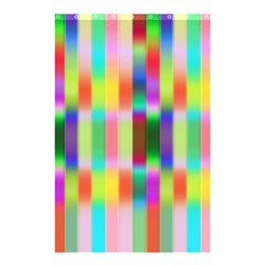 Multicolored Irritation Stripes Shower Curtain 48  X 72  (small)
