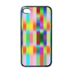 Multicolored Irritation Stripes Apple Iphone 4 Case (black)