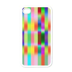 Multicolored Irritation Stripes Apple Iphone 4 Case (white) by designworld65