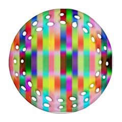 Multicolored Irritation Stripes Ornament (round Filigree)
