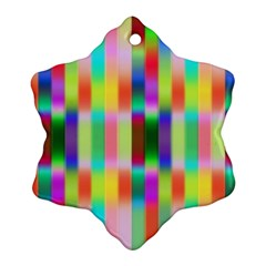 Multicolored Irritation Stripes Snowflake Ornament (two Sides)