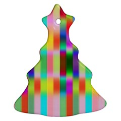 Multicolored Irritation Stripes Christmas Tree Ornament (two Sides)