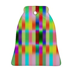 Multicolored Irritation Stripes Bell Ornament (two Sides) by designworld65