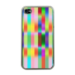 Multicolored Irritation Stripes Apple Iphone 4 Case (clear)