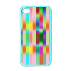Multicolored Irritation Stripes Apple Iphone 4 Case (color)
