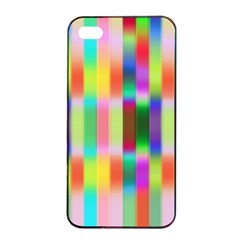 Multicolored Irritation Stripes Apple Iphone 4/4s Seamless Case (black)