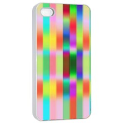 Multicolored Irritation Stripes Apple Iphone 4/4s Seamless Case (white) by designworld65