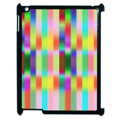 Multicolored Irritation Stripes Apple Ipad 2 Case (black)