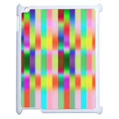 Multicolored Irritation Stripes Apple Ipad 2 Case (white) by designworld65