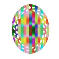 Multicolored Irritation Stripes Ornament (oval Filigree)
