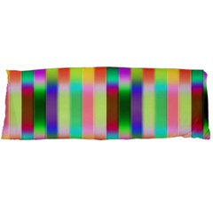 Multicolored Irritation Stripes Body Pillow Case (dakimakura)