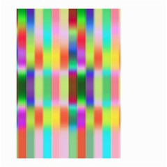 Multicolored Irritation Stripes Small Garden Flag (two Sides)