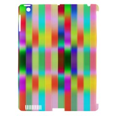 Multicolored Irritation Stripes Apple Ipad 3/4 Hardshell Case (compatible With Smart Cover)