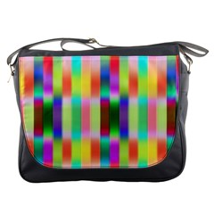 Multicolored Irritation Stripes Messenger Bags