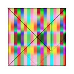 Multicolored Irritation Stripes Acrylic Tangram Puzzle (6  X 6 )