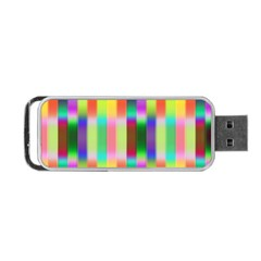 Multicolored Irritation Stripes Portable Usb Flash (two Sides)