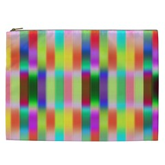 Multicolored Irritation Stripes Cosmetic Bag (xxl)