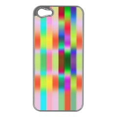 Multicolored Irritation Stripes Apple Iphone 5 Case (silver)