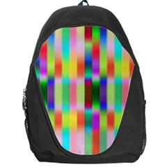 Multicolored Irritation Stripes Backpack Bag