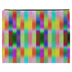 Multicolored Irritation Stripes Cosmetic Bag (xxxl)