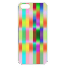 Multicolored Irritation Stripes Apple Iphone 5 Seamless Case (white)